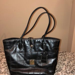 Dooney & Bourke Croc Embossed Tote- Black